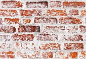 Vintage Detailed Brick Wall Texture With Whitewash