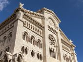 The Principality of Monaco, 13 October 2013 . Architectural details of cathedral