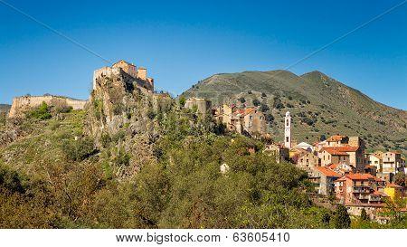 Corte Citadel In Corsica
