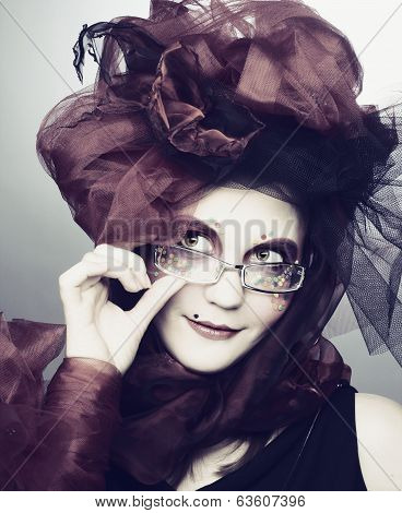 Yound lady in glasses
