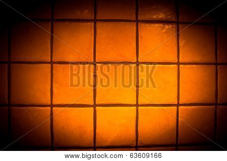 Background Surface Of Orange Tiles