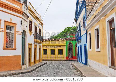 Beautifulcolorful houses in Olinda
