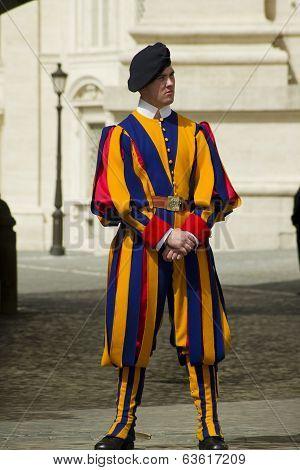 Swiss Guard Outside Vatican