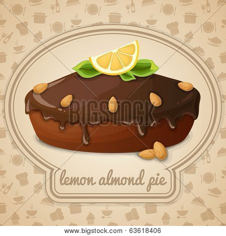 Lemon almond pie emblem