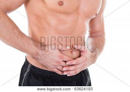 Man Having Stomachache