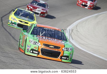 Fort Worth, TX - Apr 04, 2014:  Danica Patrick (10) takes to the track for a practice session for the Duck Commander 500 at Texas Motor Speedway in Fort Worth, TX.