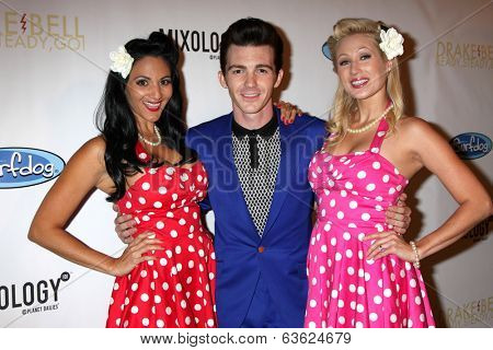 LOS ANGELES - APR 17:  Drake Bell, models at  Drake Bell's Album Release Party for
