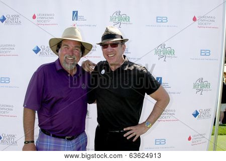 LOS ANGELES - APR 14:  Richard Karn, Tim Allen at the Jack Wagner Anuual Golf Tournament benefitting LLS at Lakeside Golf Course on April 14, 2014 in Burbank, CA