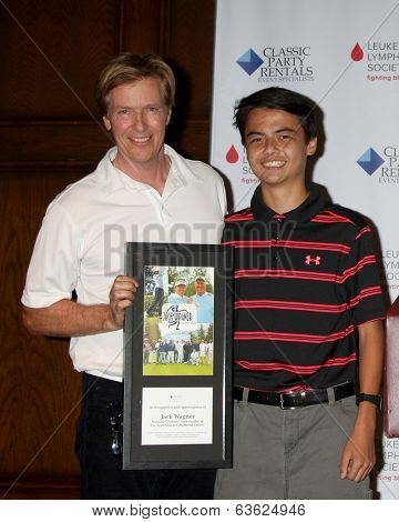 LOS ANGELES - APR 14:  Jack Wagner, Quinten Lepak at the Jack Wagner Anuual Golf Tournament benefitting LLS at Lakeside Golf Course on April 14, 2014 in Burbank, CA