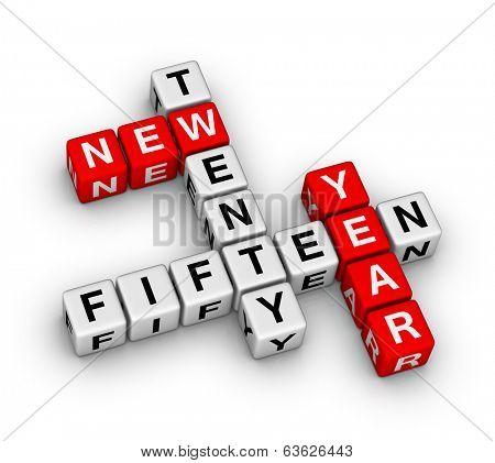 twenty fifteen new year crossword puzzle