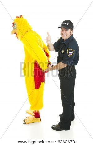 Policeman Arrests Chicken Man