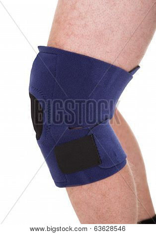 A Person Wearing Knee Brace