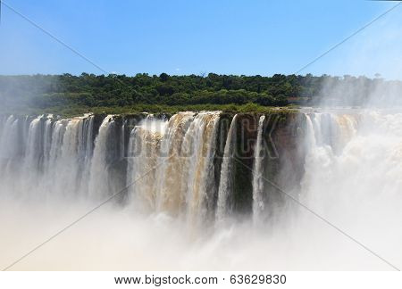 Iguazu Falls, Brazil From Side Of Argentina