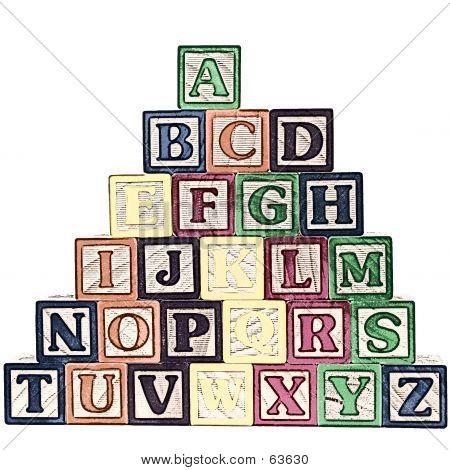 ABC Blocks A-Z Illustration