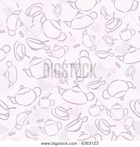 Seamless wallpaper I Love Tea