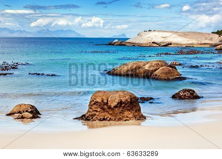 Beautiful beach landscape, Siamon's Town, Western Cape, South Africa travel