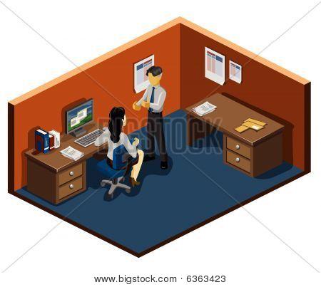 Manager Briefs Staff