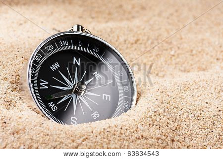 Compass In The Sand