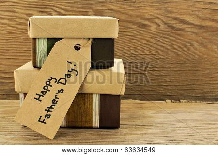 Fathers Day gifts on wood