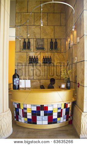 Reception at the tasting room at Darioush Winery in Napa Valley
