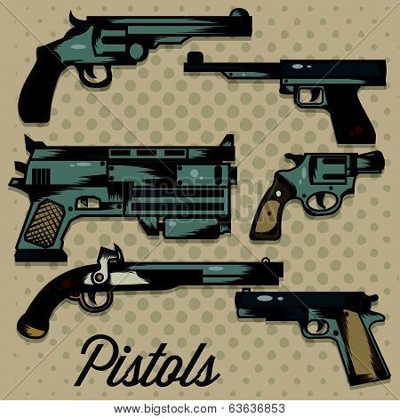 Pistols Cartoon Collection