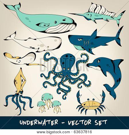 Underwater Vector Set