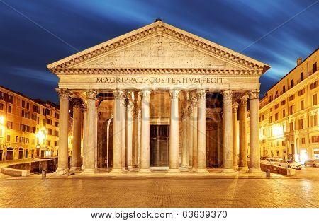 Rome - Pantheon At Night