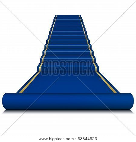 Blue Carpet With Ladder