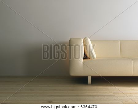 Couch on a A Blank Wall