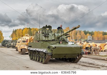 Convoy of military technics. Russia