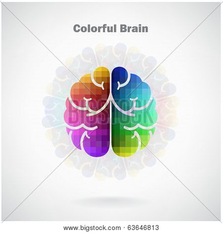 Creative Colorful Left And Right Brain