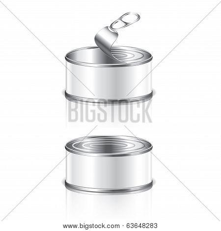 Empty Tin Can Vector Illustration