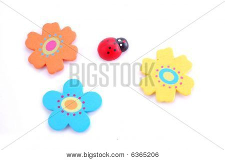 Ladybird With Flowers