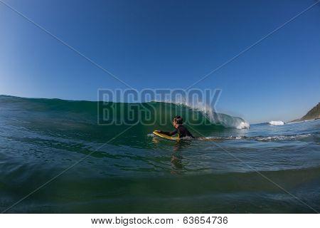 Waves Body-Boarder Water Ocean
