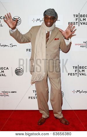 NEW YORK-APR 17: Former NBA player Dr. Dick Barnett attends the 'When the Garden Was Eden' premiere at the 2014 TriBeCa Film Festival at the BMCC Tribeca PAC on April 17, 2014 in New York City.
