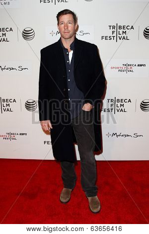 NEW YORK-APR 17: Actor Ed Burns attends the 'When the Garden Was Eden' premiere at the 2014 TriBeCa Film Festival at the BMCC Tribeca PAC on April 17, 2014 in New York City.