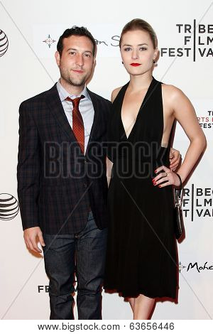 NEW YORK-APR 17: Actor Chris Marquette (L) and producer Emily Isacson attend the 'When the Garden Was Eden' premiere at the TriBeCa Film Festival at the BMCC PAC on April 17, 2014 in New York City.