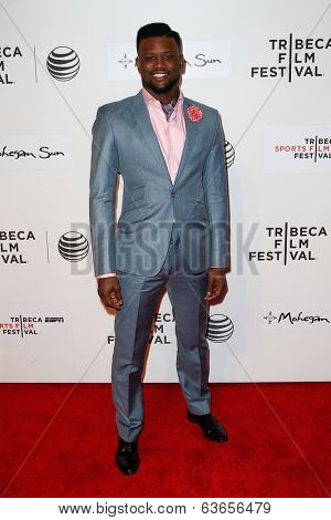 NEW YORK-APR 17: Former NFL player Walter Thurmond attends the 'When the Garden Was Eden' premiere at the 2014 TriBeCa Film Festival at the BMCC Tribeca PAC on April 17, 2014 in New York City.