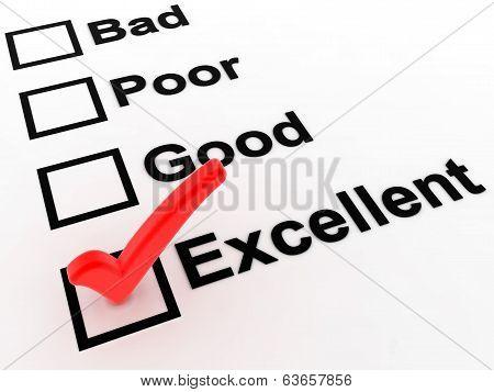 Check List Excellent