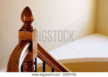 Wood Stair Rail Detail