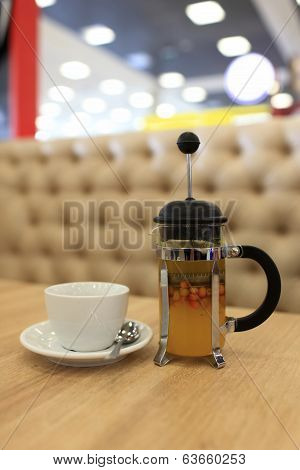Buckthorn Tea In A French Press