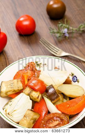 Roasted Vegetable In Vertical Format