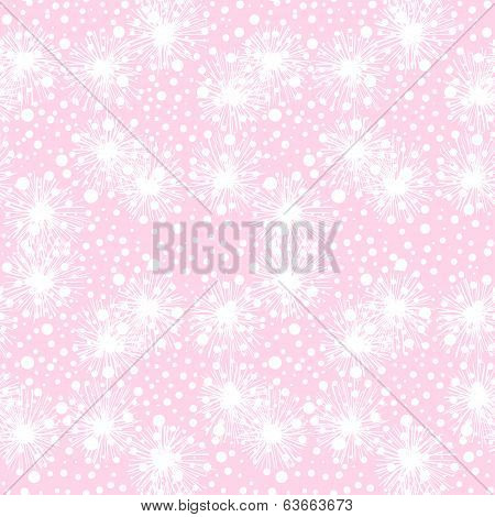 Vector seamless pattern with small furry flowers