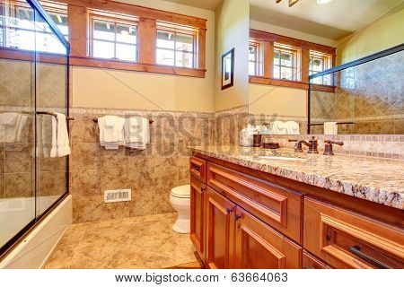 Warm Bathroom Interior