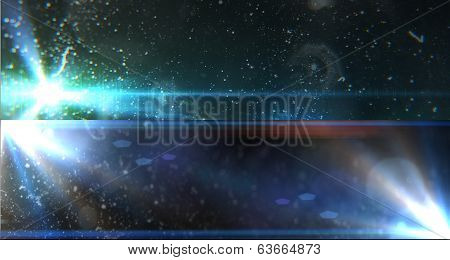 Futuristic Signs With Elements Of Stars, Flares. Design Template
