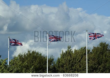 Three Union Jacks