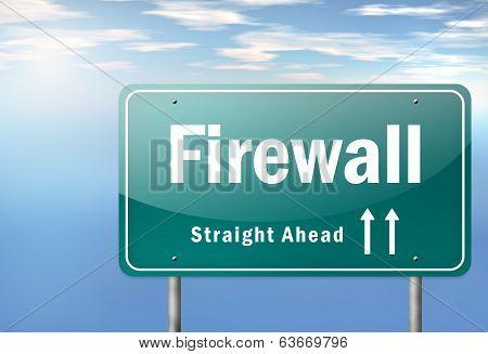Highway Signpost Firewall