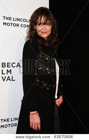 NEW YORK-APR 20: Actress Katie Holmes attends the