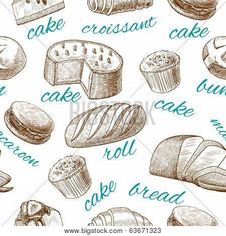 Baking pastry seamless wallpaper
