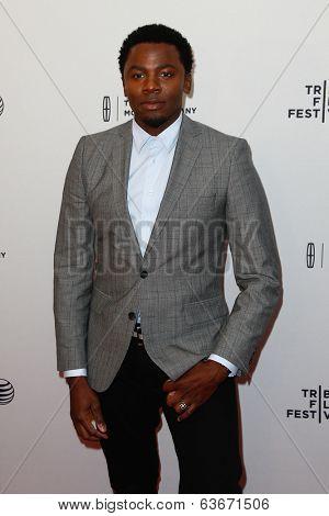 NEW YORK-APR 18: Actor Derek Luke attends the